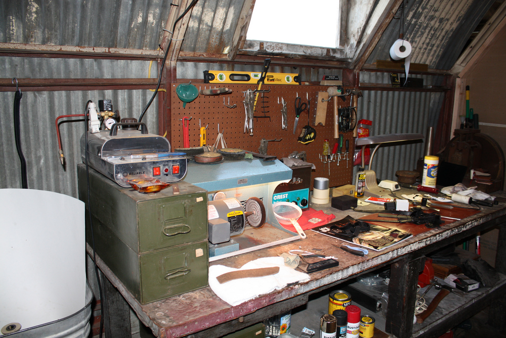 Jeweler's work bench The VISION becomes REALITY here.Check out a few of their magical creations.