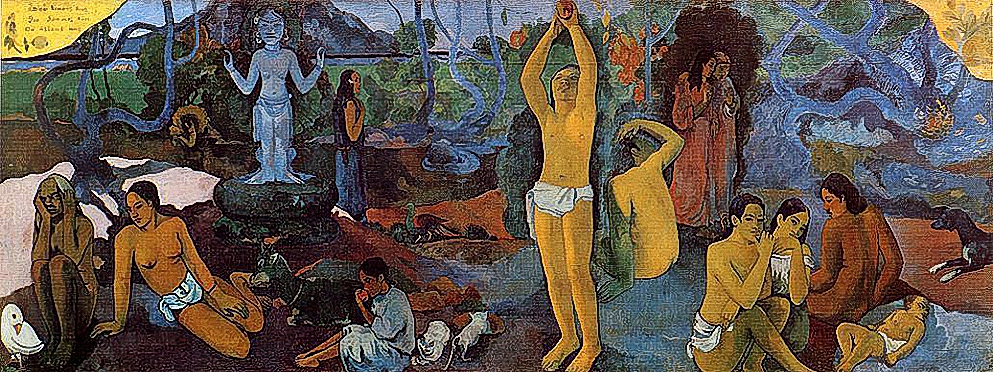 """""""Where Do We Come From? What Are We? Where Are We Going?"""" 1897 Paul Gauguin"""