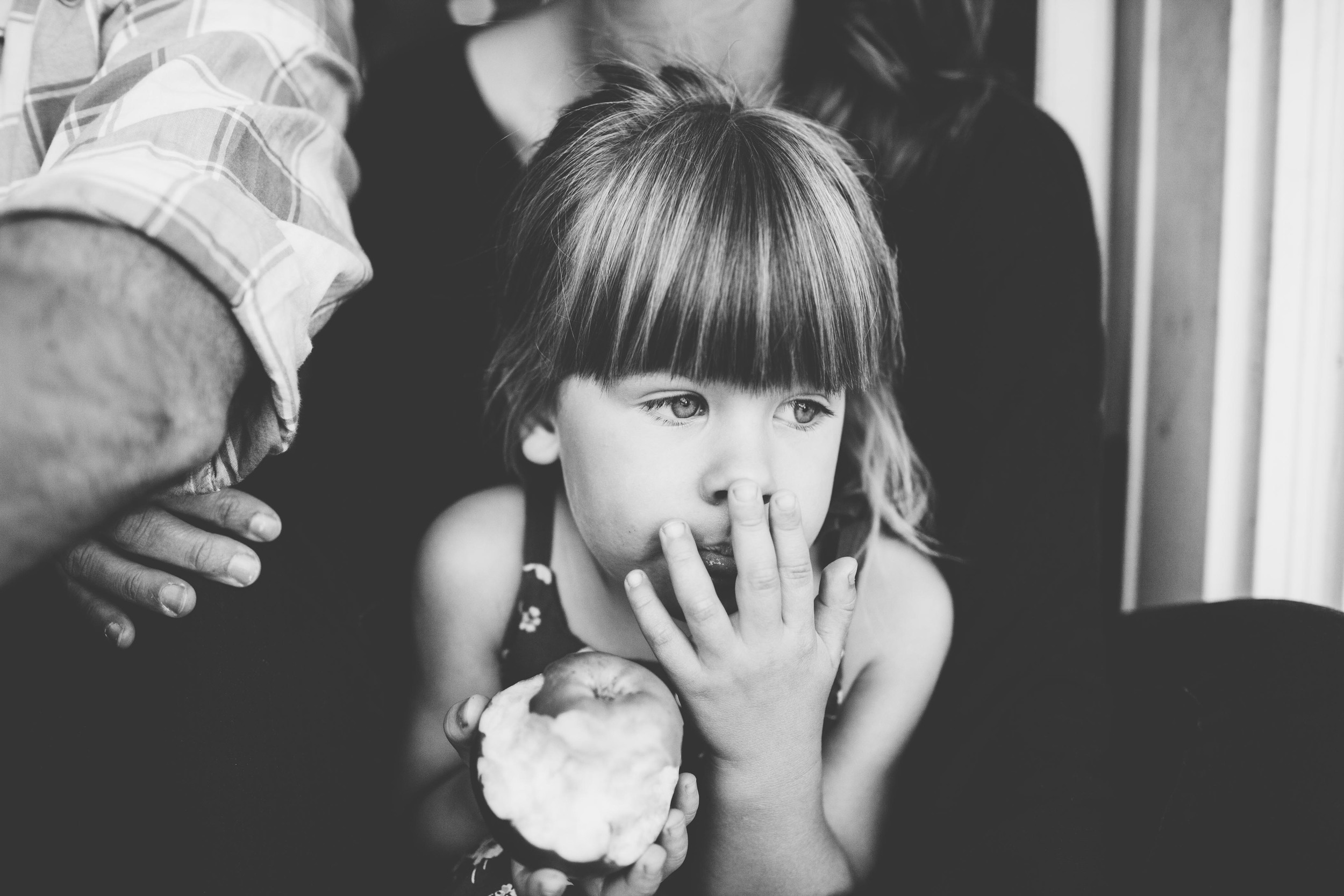 chilliwack family photographer girl eating an apple.jpg