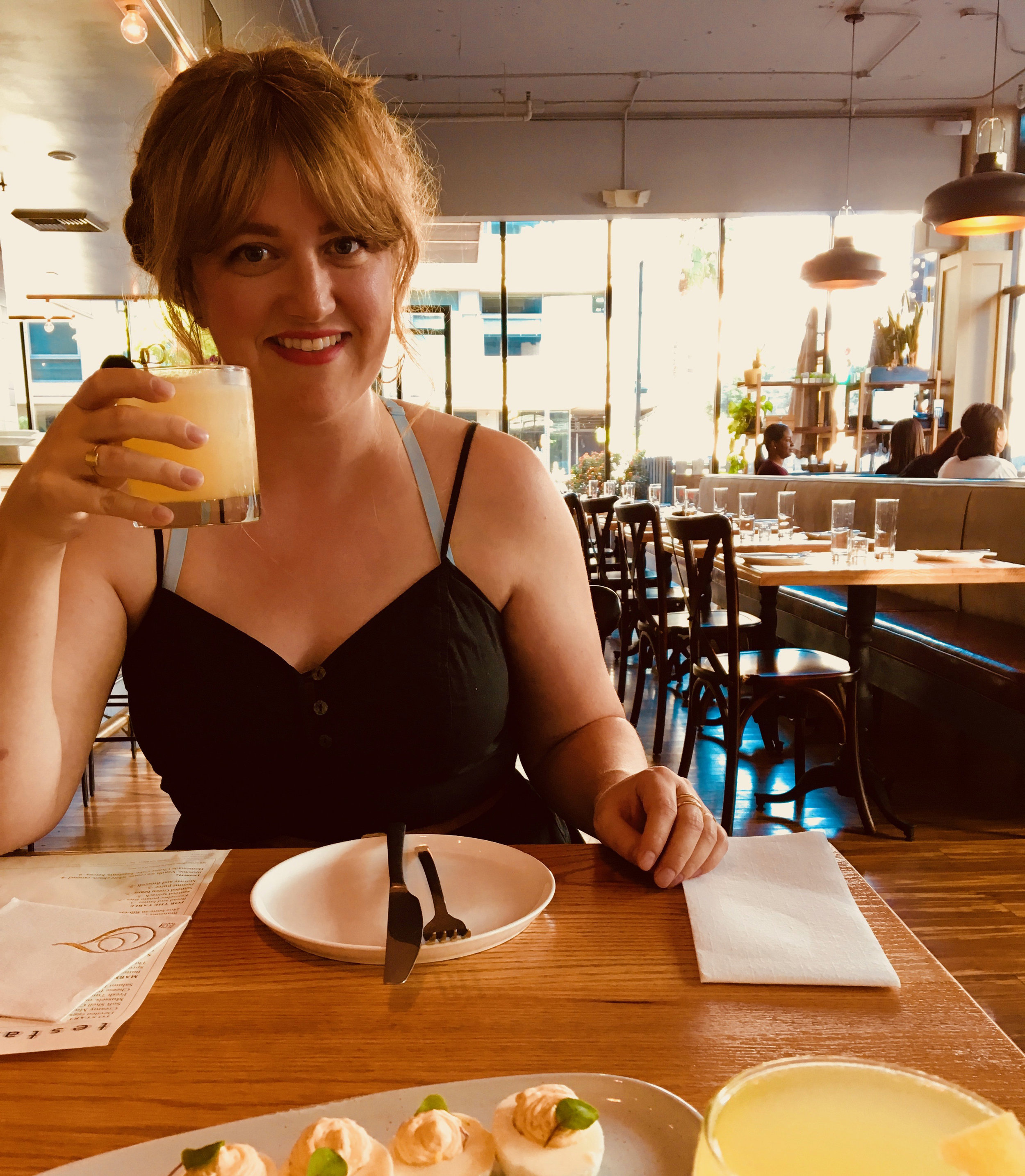 It's me, pretending to be a restaurant critic. - I do love deviled eggs, so, it seemed appropriate.