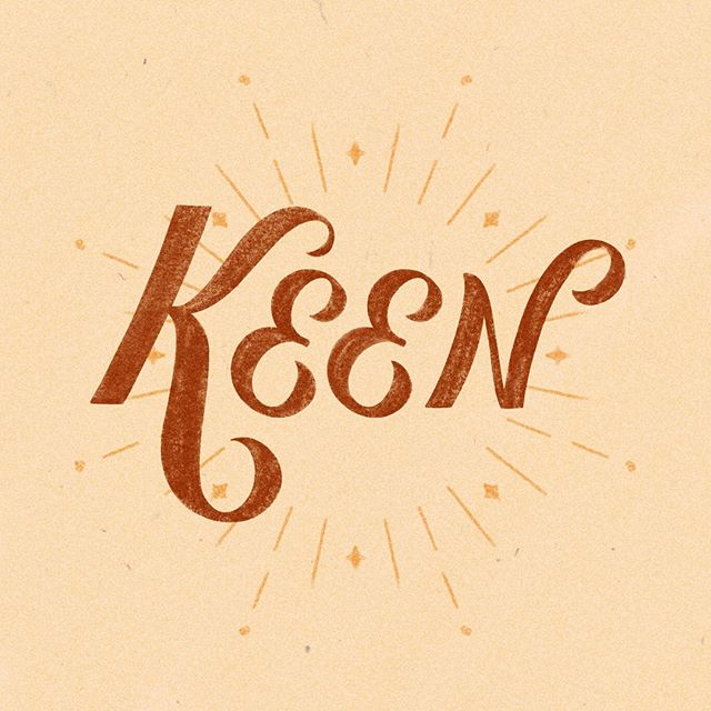 "OMG I really need to just skip ahead and get on-track with the #happyletteringchallenge but ""Keen"" is SUCH a great word. It's both nifty and swell, it's full of some of my favorite letters to letter, and you can't spell Keenan Thompson without it! it's a good word. ⠀⠀⠀⠀⠀⠀⠀⠀⠀ .⠀⠀⠀⠀⠀⠀⠀⠀⠀ #happyletteringchallenge #happylettering #artoftype #dailytype #designinspiration #goodtype #handlettering #handwritingmagazine #ipadlettering #letterarchive  #thedailytype #thedesigntip #typeeverything #typegang #typeinspire #typeism #typelove #typematters #typetopia #Typography #typographyinspire #womenofillustration⠀⠀⠀⠀⠀⠀⠀⠀⠀ .⠀⠀⠀⠀⠀⠀⠀⠀⠀ @happyletteringchallenge @womenofillustration @typespire @thedesigntip @thedailytype @type.inspired @typetopia @showusyourtype @typeworship @thedesigntip @ligaturecollective @procreate"