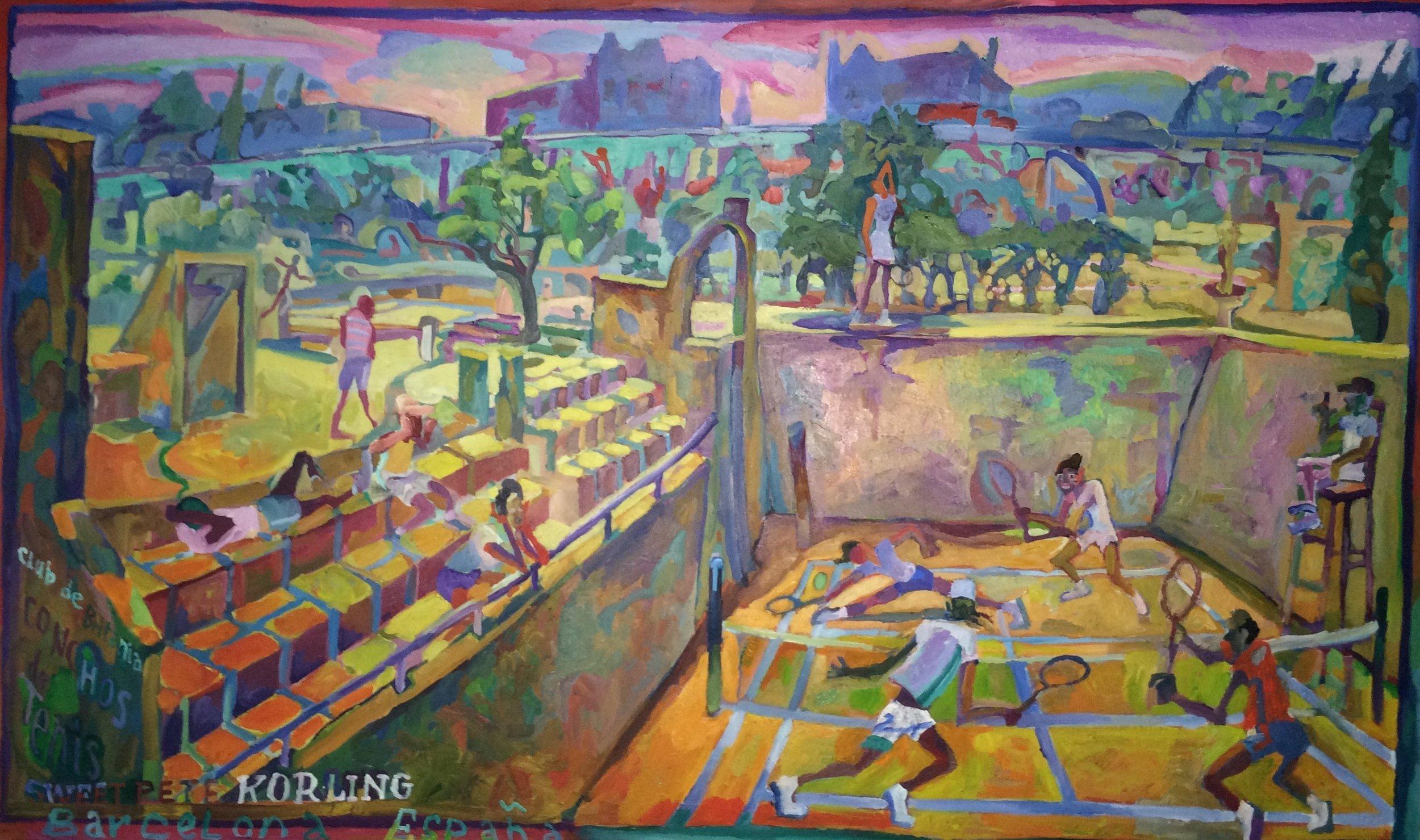 Canchos De Barcelona  36x60 oil on canvas