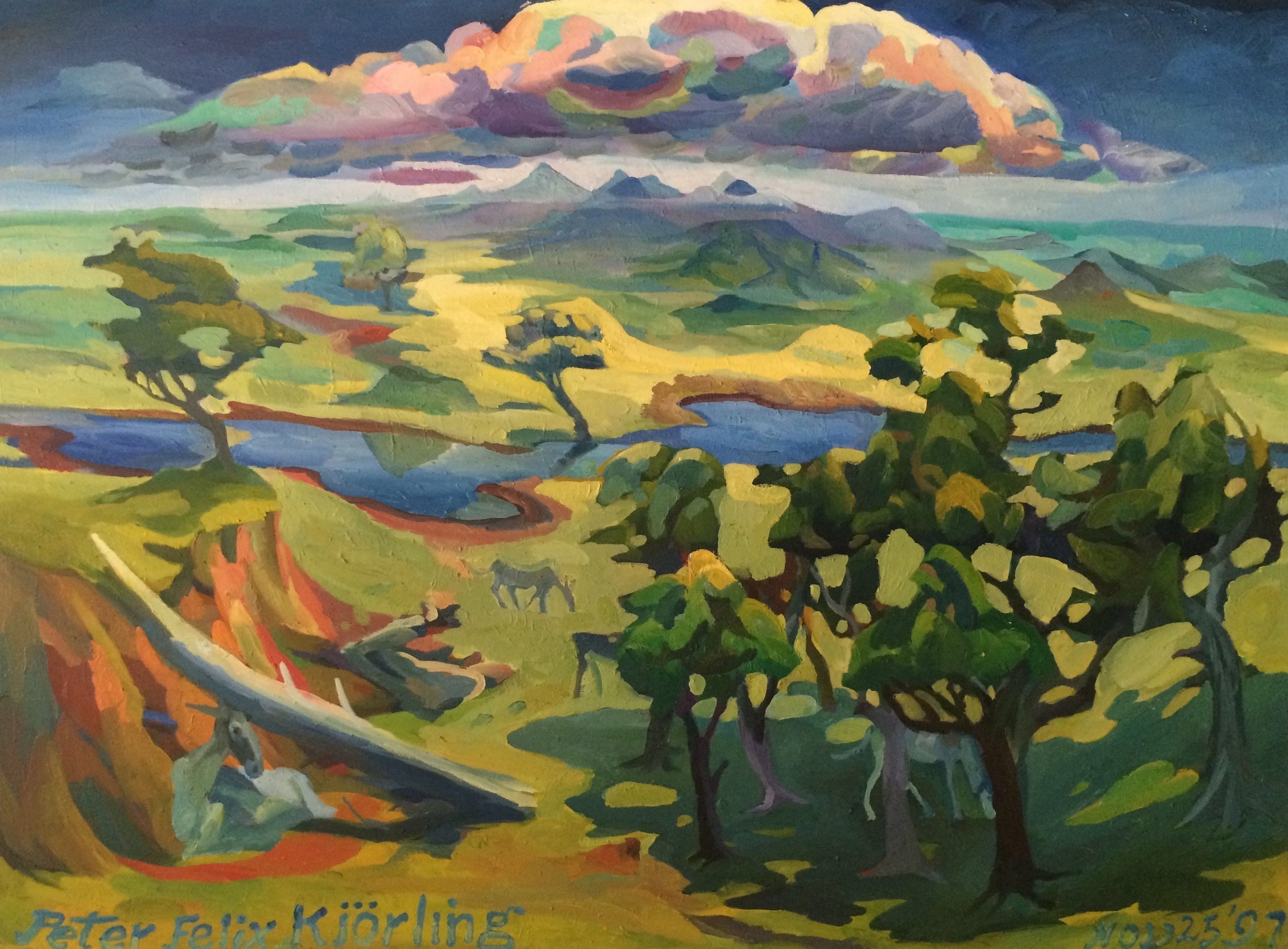 Clumps of Trees and Thunder Clouds  36x49 oil on canvas