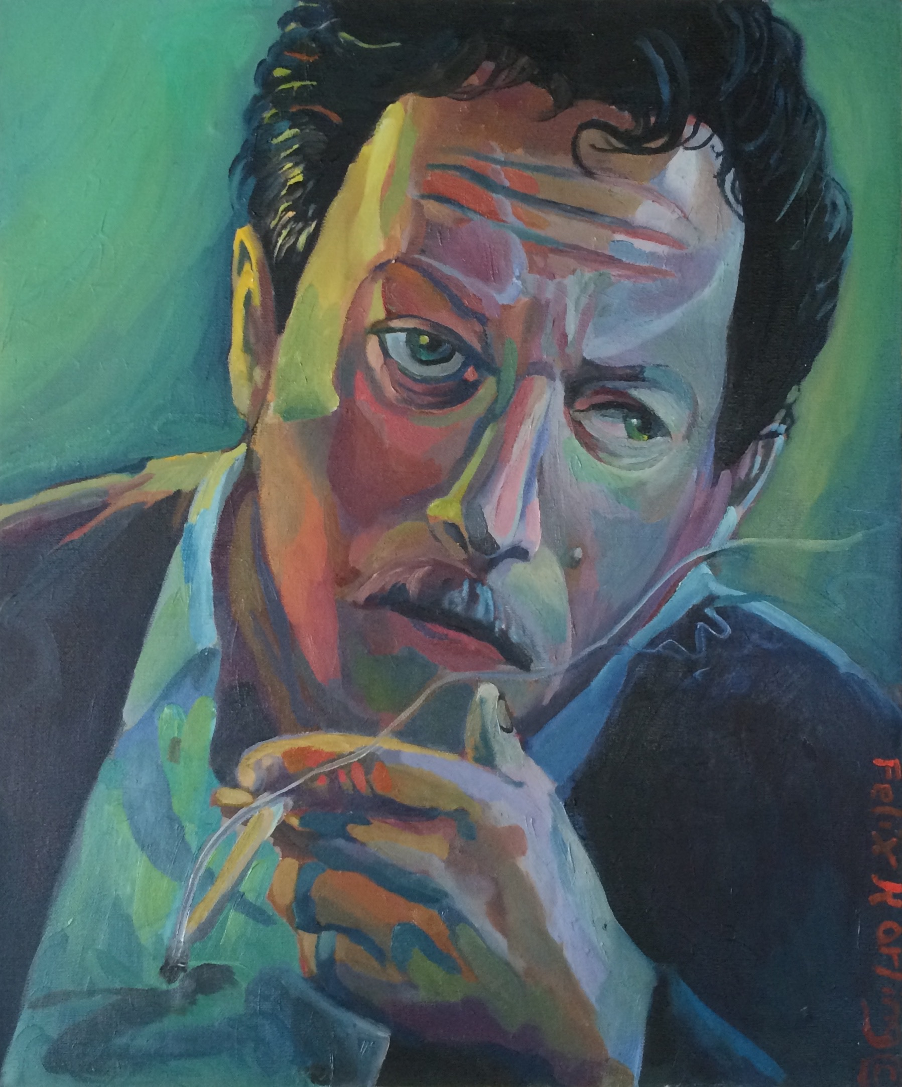 Tennesse Williams  20x24 oil on canvas