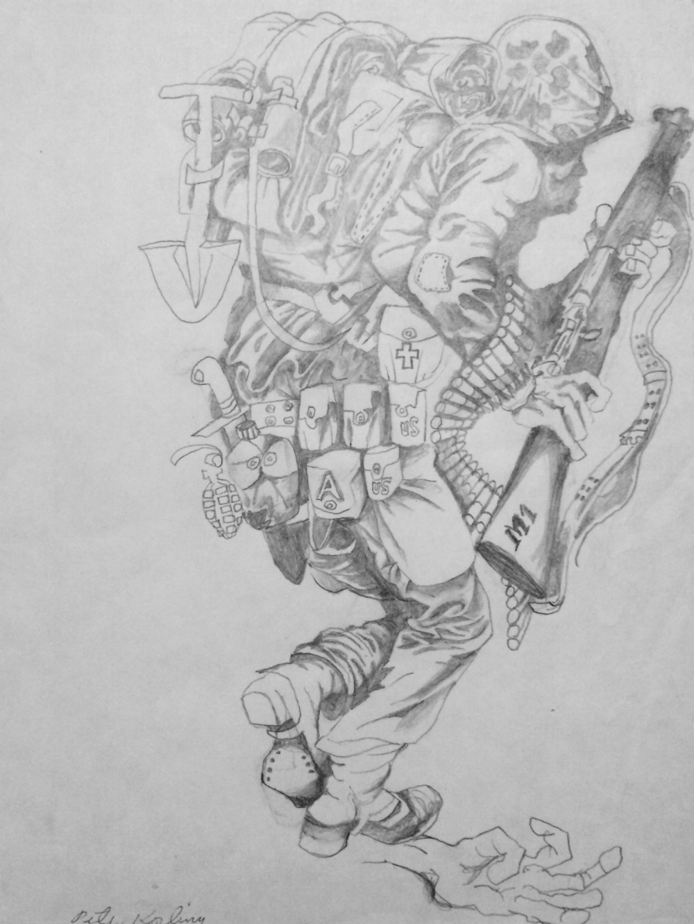 Soldier  pencil on paper