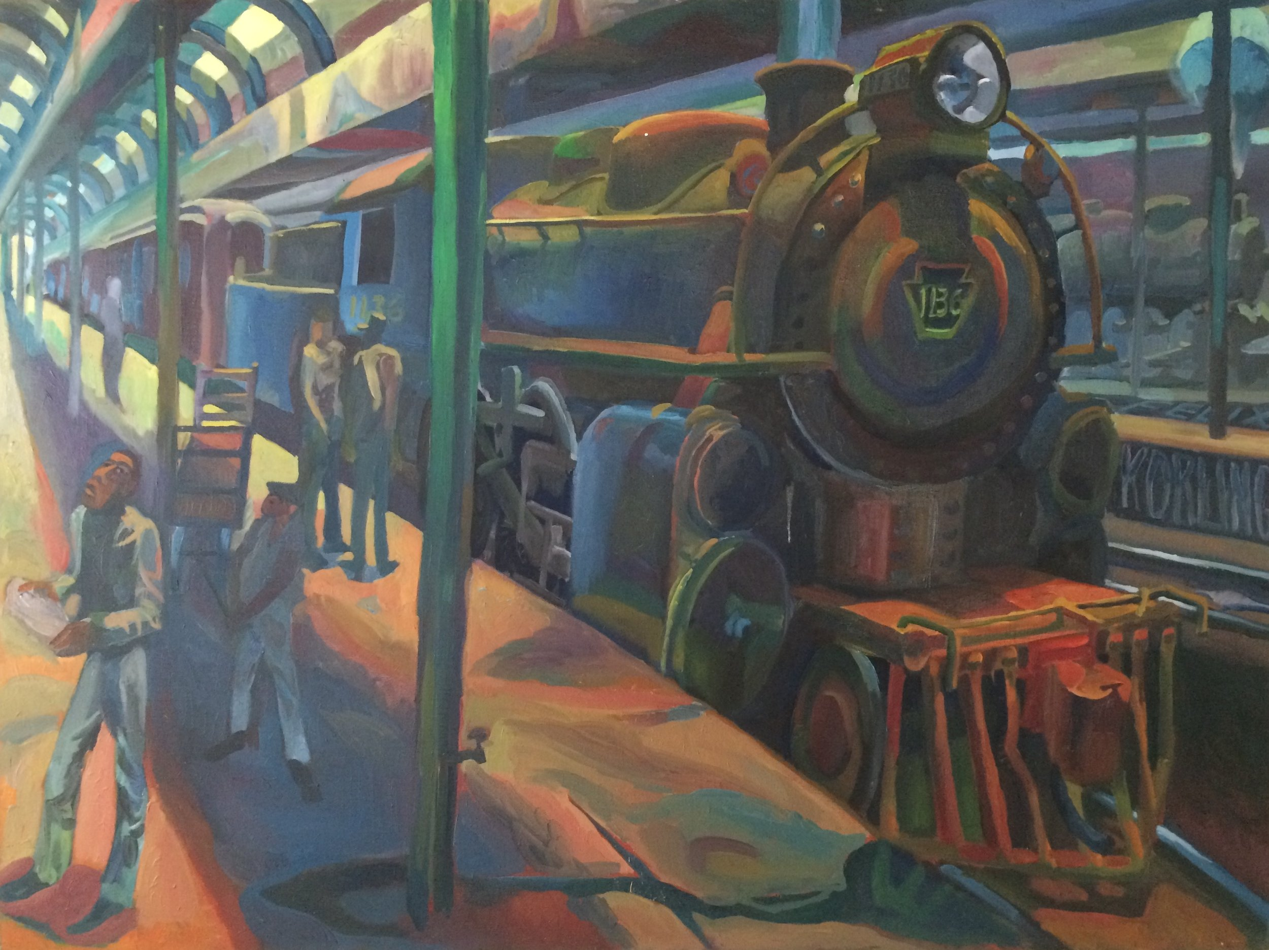 Dearborn Station  36x48 oil on canvas
