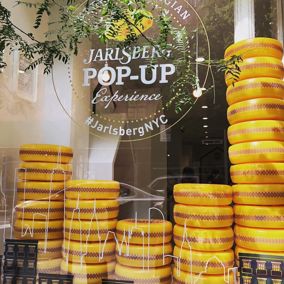 Jarlsberg pop-up in New York