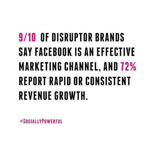 Brands that leverage online commerce and new technologies approve of Facebook as a marketing channel, but what do you think? • • • #Startup #SociallyPowerful #SocialMediaMarketing #CreativeAgency #InfluencerMarketing #Online #DigitalMarketing #Fact #Facebook #Marketing