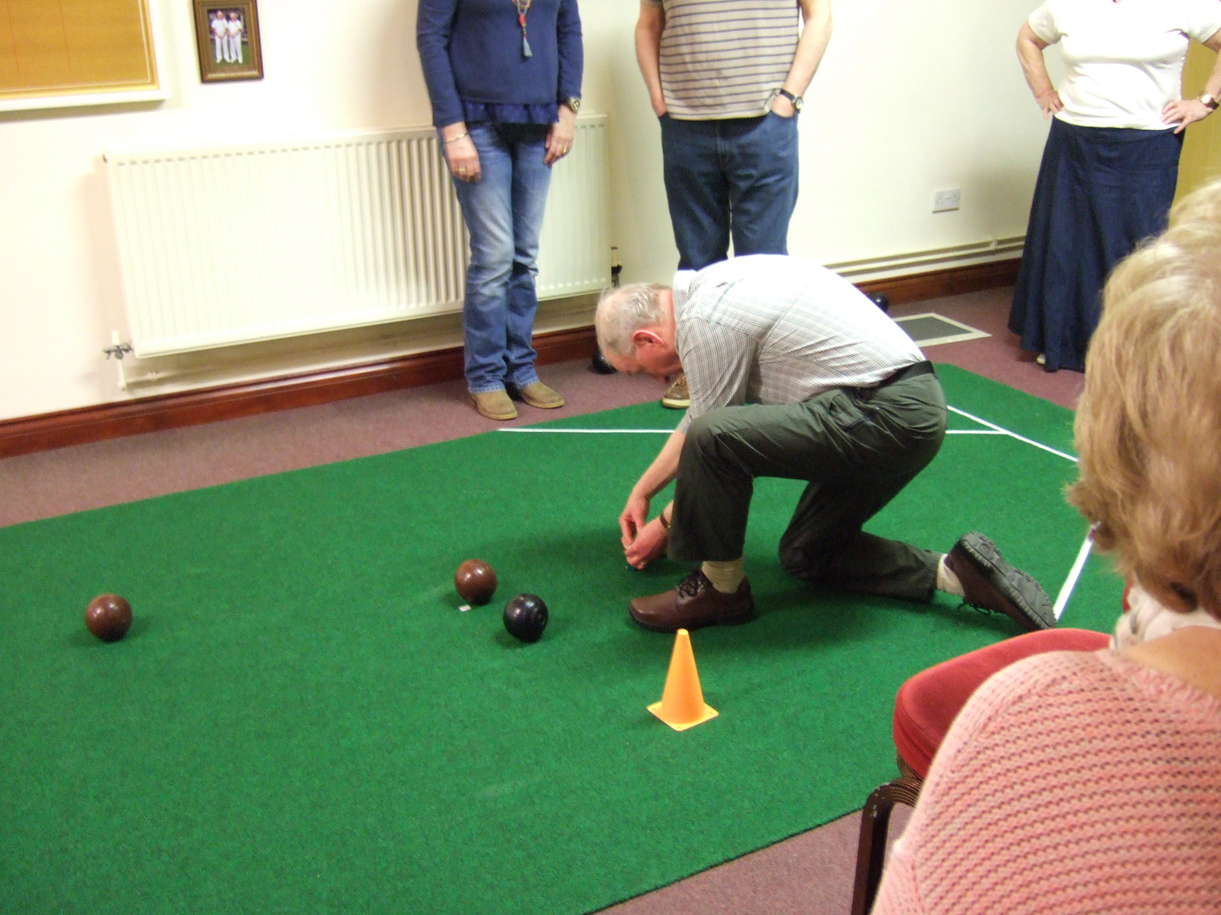 Come and join us every Wednesday for carpet bowls from 2 till 4 pm