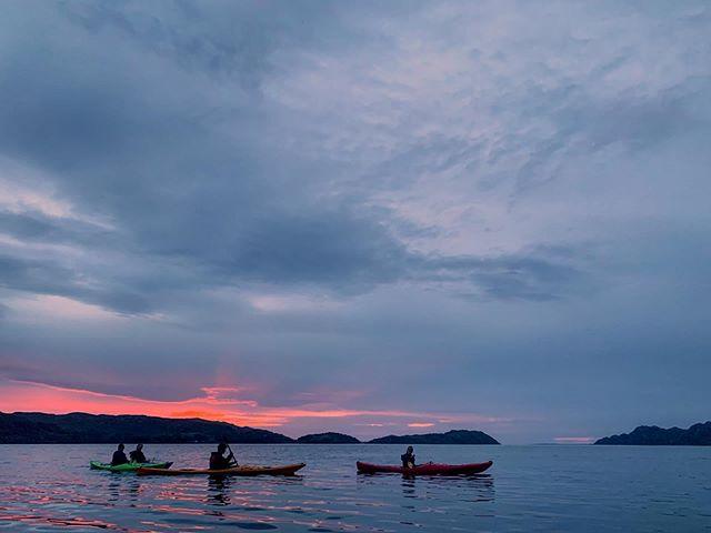 Watching the last bit of light fade away on another beautifully calm sunset paddle. #shieldaigoutdooradventures #shieldaigadventures #nc500adventure #seakayakingadventures #torridon #shieldaig #scotland #explorescotland