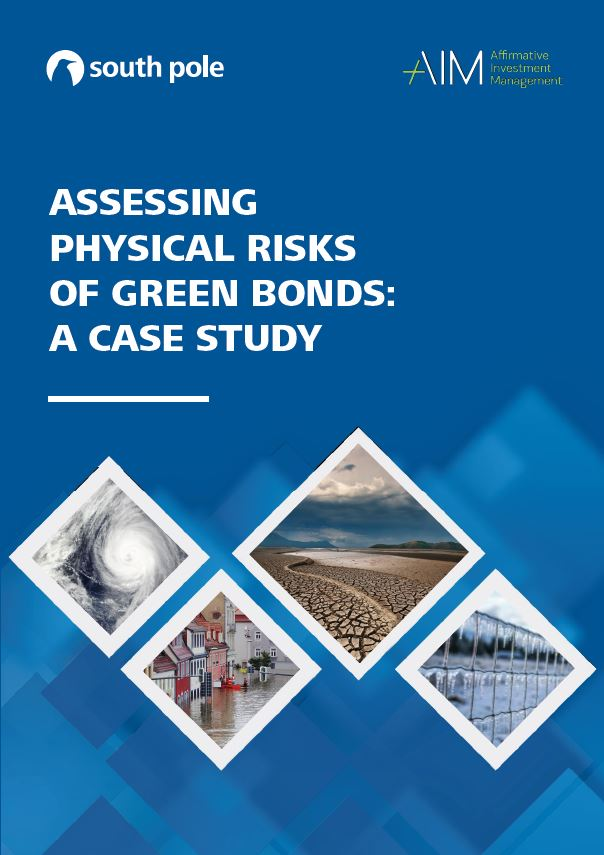 Assessing physical risks of green bonds: a case study - Affirmative Investment Management partnered with South Pole to produce this case study, Assessing Physical Risks of Green Bonds, as part of our continued commitment to pioneering best practice in green bond verification, impact measurement and reporting. This TCFD-aligned physical risk assessment tool is forward-looking and examines three forms of green bond issuers' exposure to physical climate risks under two scenarios: warming of 2°C and of 4°C.