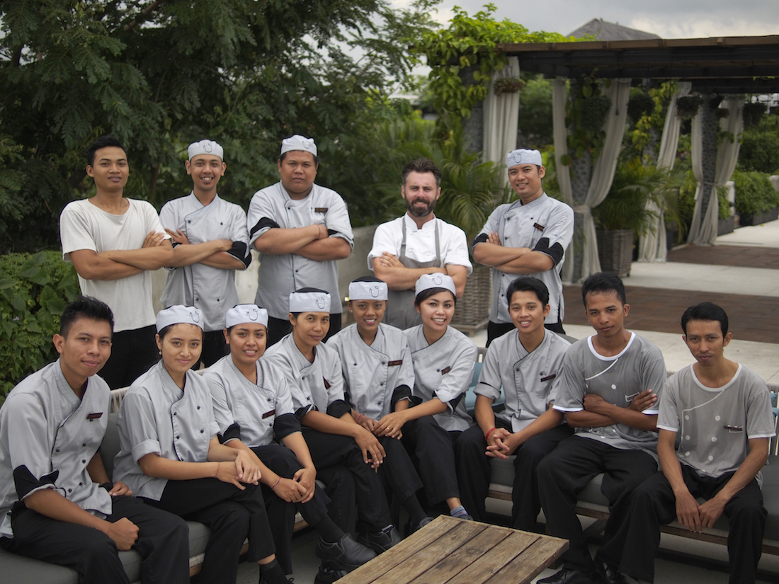 Executive Chef Duncan McCance and the Bisma Eight & Copper Kitchen & Bar Kitchen Crew
