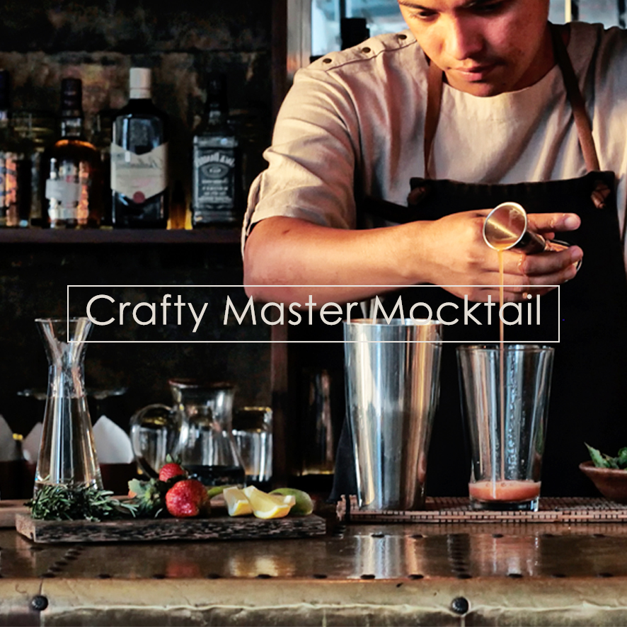 Crafty Master Mocktail every Saturday from 3-4 PM