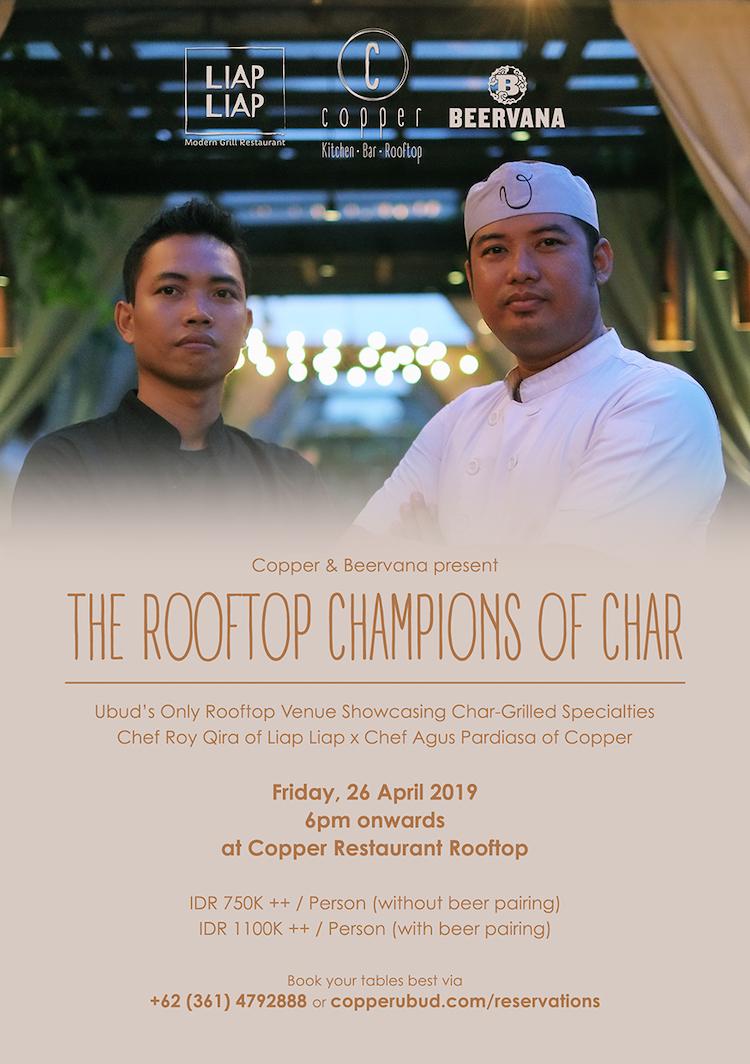 Left: Chef Roy Qira; Right: Chef Agus Pardiasa