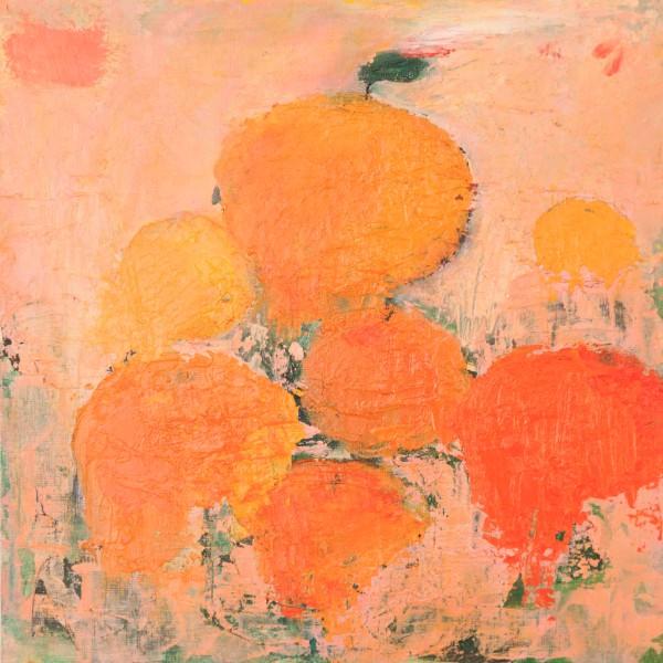 "Les Oranges 12 x12"" acrylic on paper 2013"