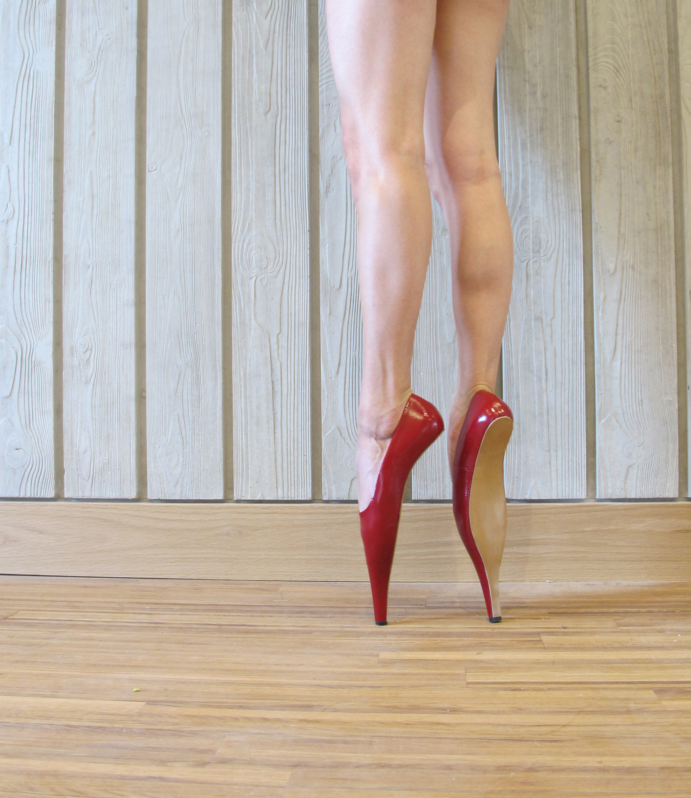 RED SHOES  Material: patent leather  Price on request