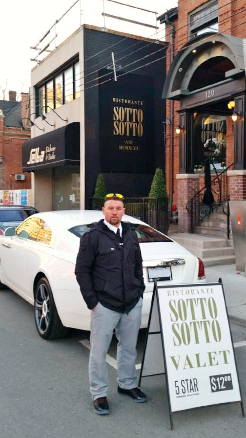 Anthony at one of 5 Star Parking Solutions' restaurant locations, Sotto Sotto.