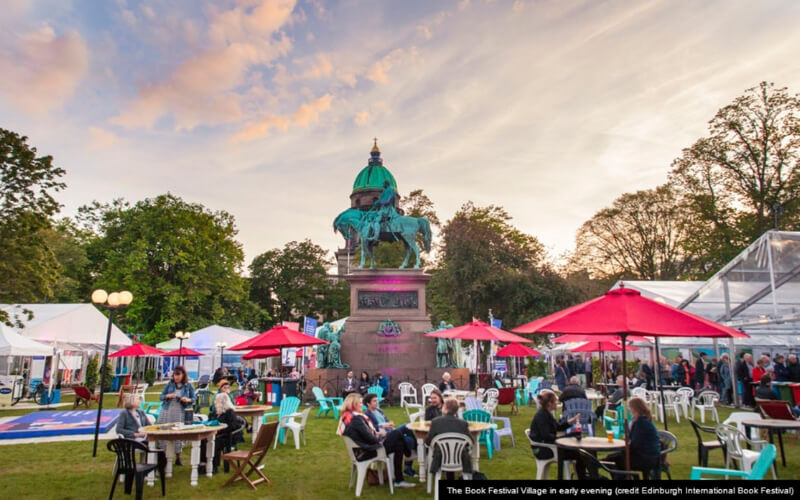 The Book Festival Village / Photo Credit: Edinburgh International Book Festival
