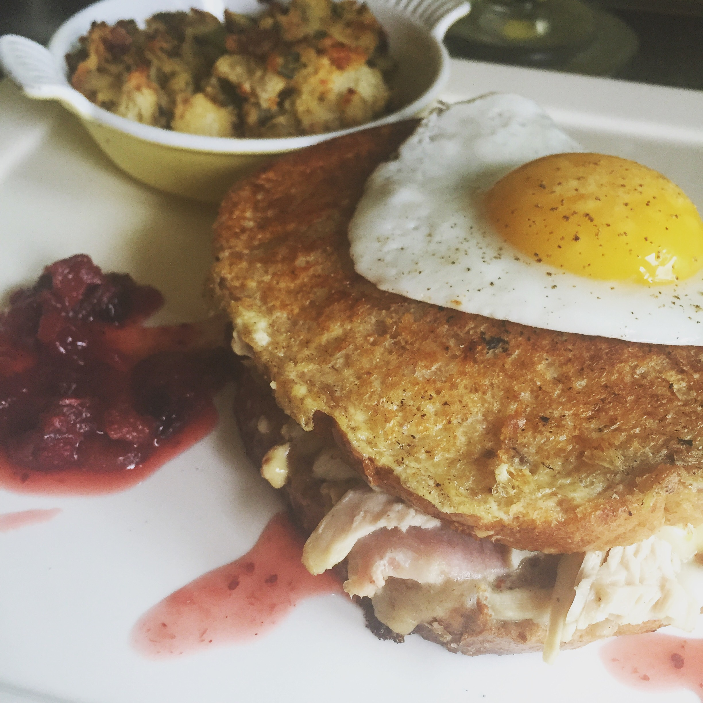 Today's breakfast: Leftover Monte Cristo