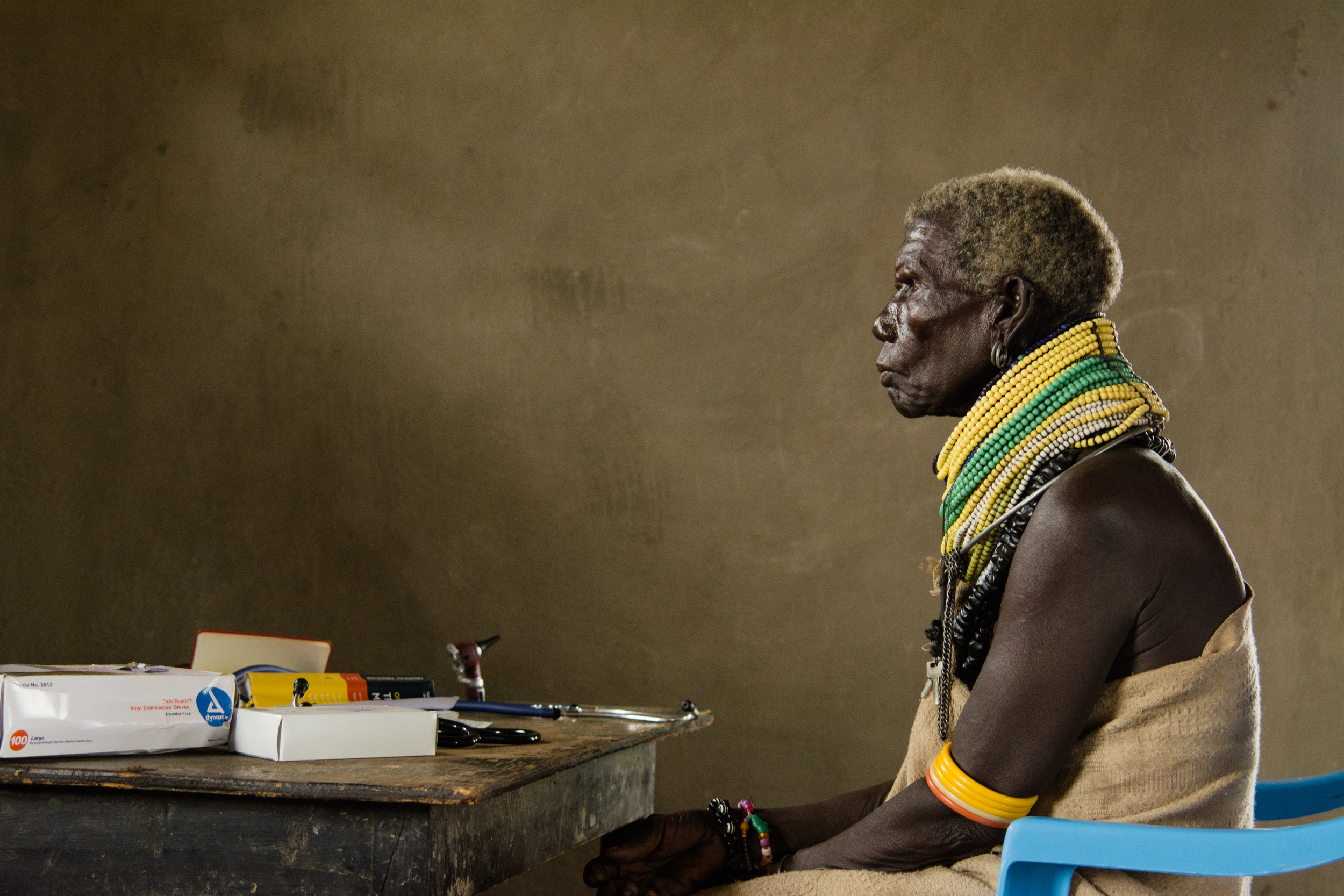 A patient waits to be seen by a doctor at the clinic