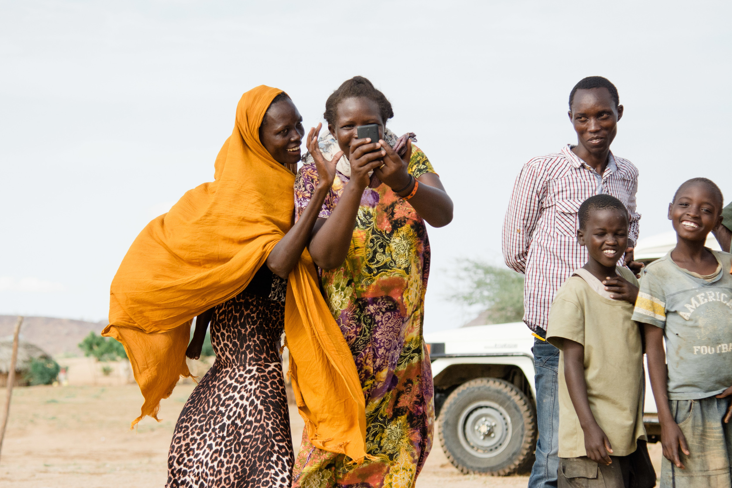 These women got a kick out of taking a picture of me while I was photographing them.