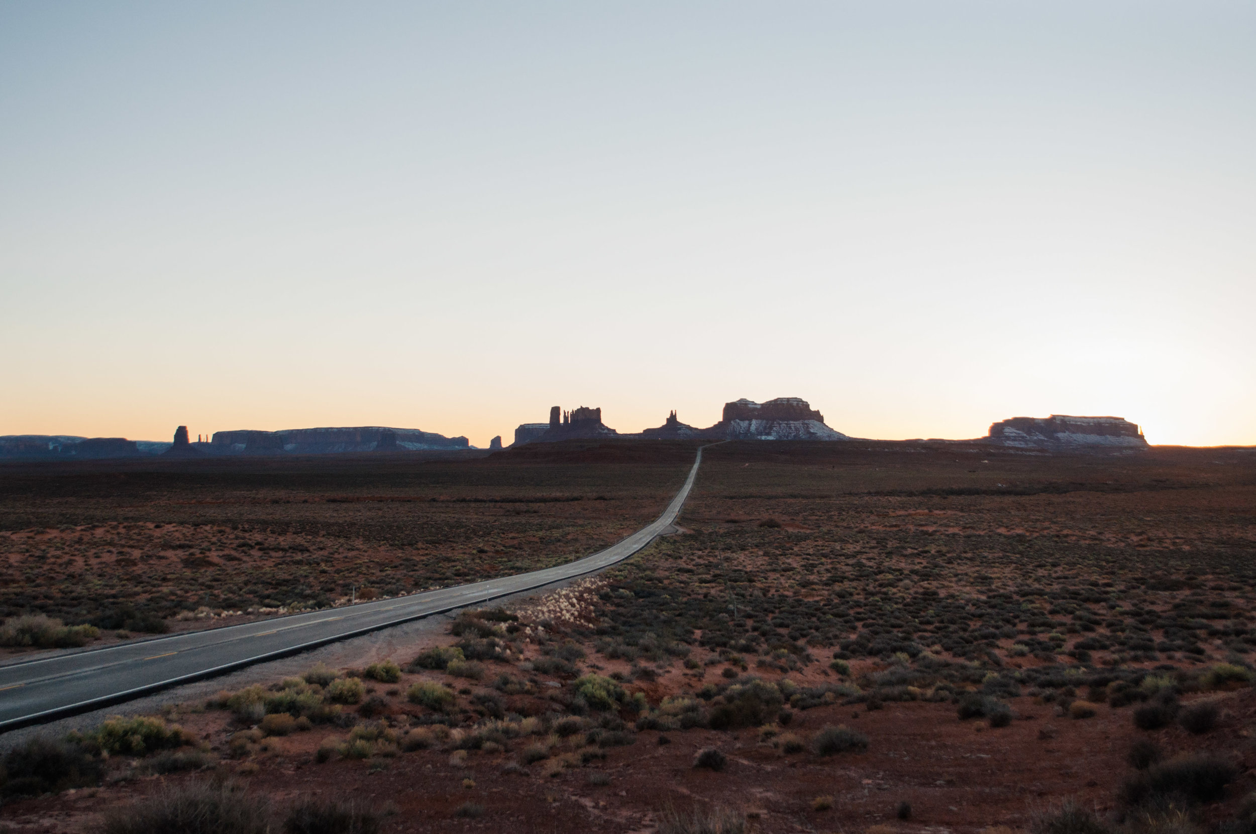 Monument Valley from Forrest Gump Point