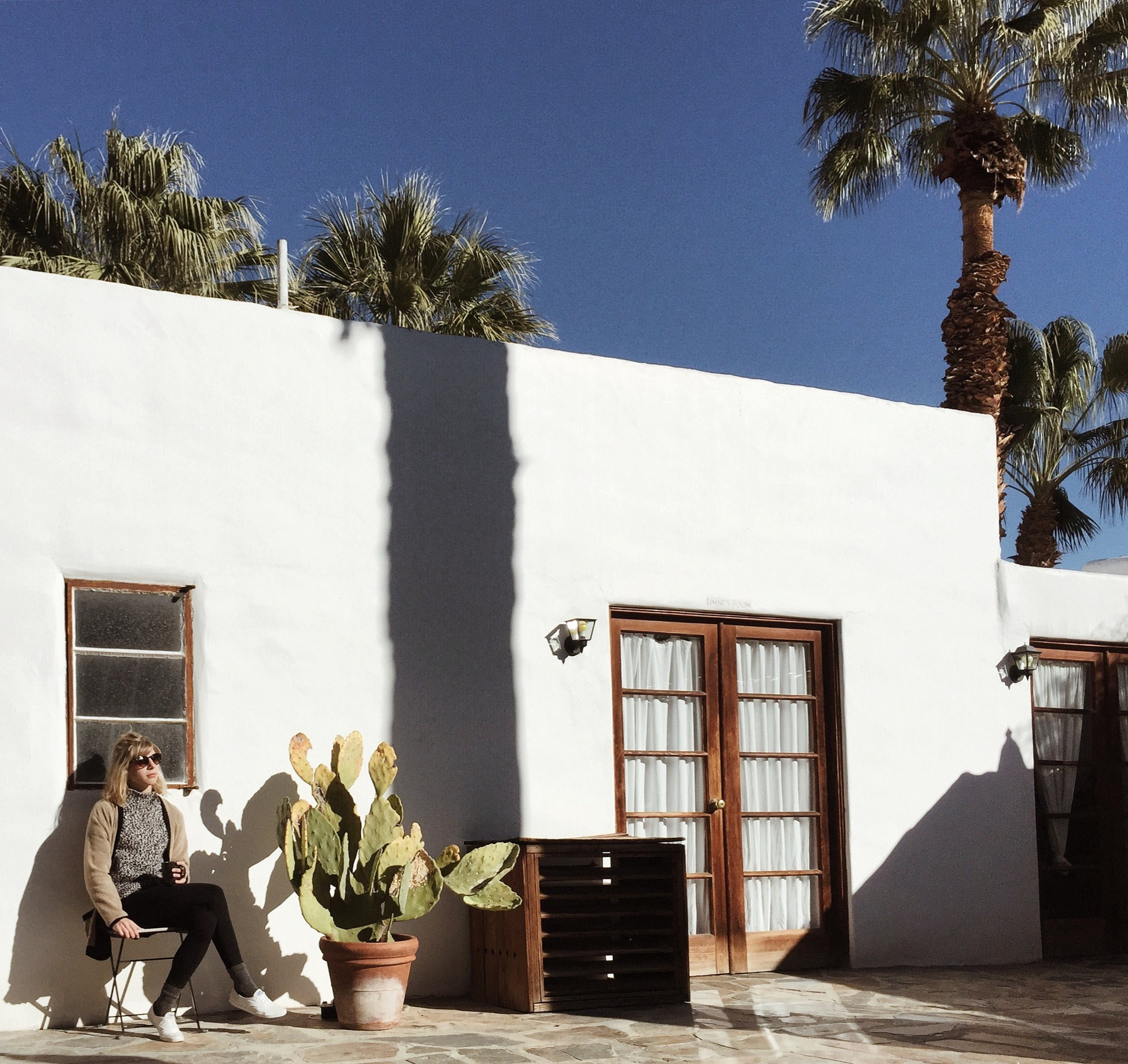 Luxurious, sun-drenched morning in Palm Springs