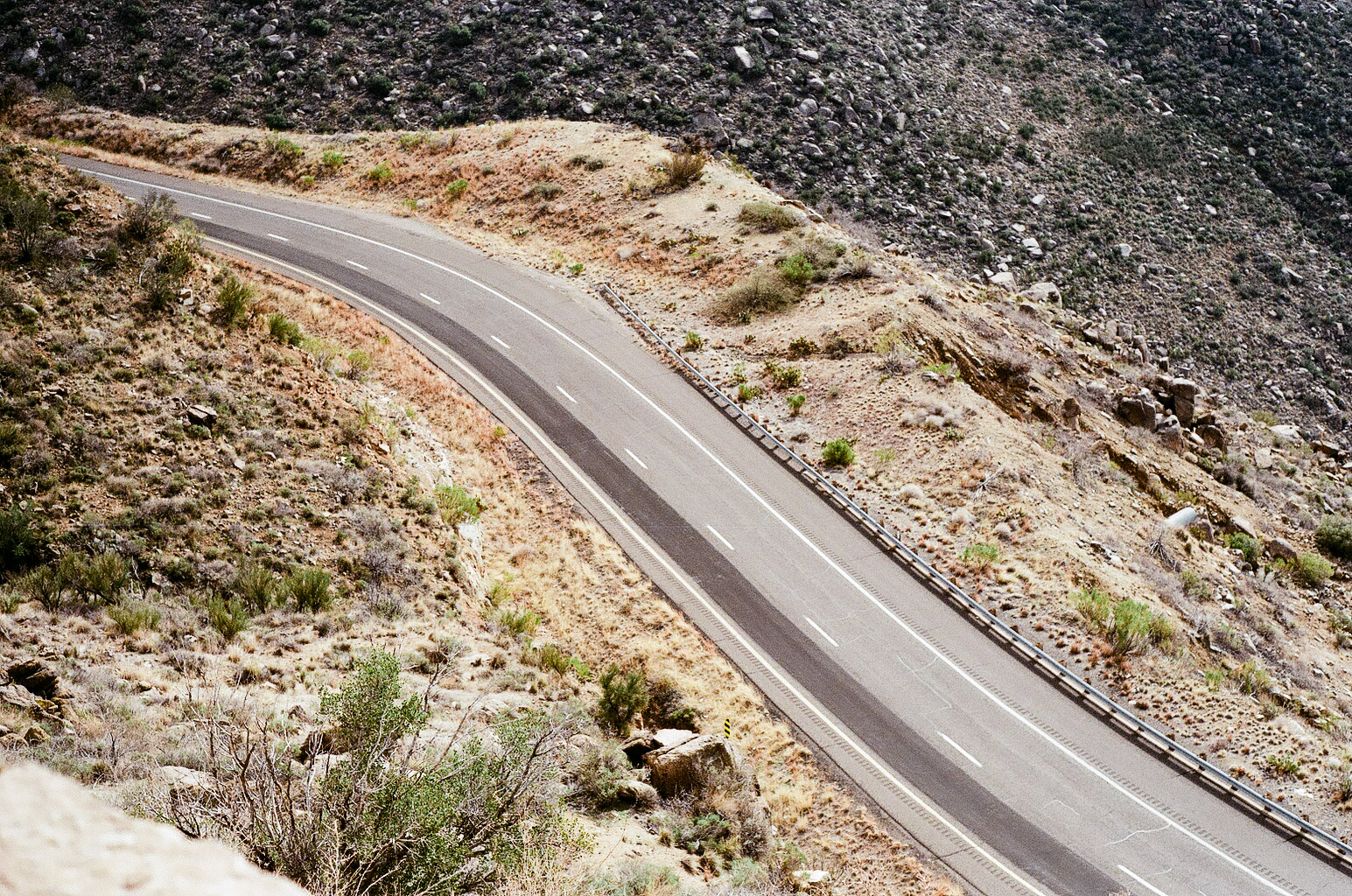 Romantic and rugged, the road looks especially alluring from an overlook in central Arizona.