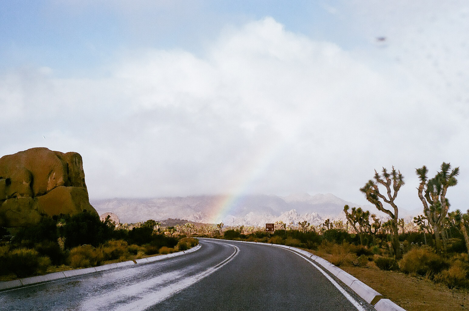 We've never seen as many full, complete rainbows as we do on this trip. A good omen for our new lives together?