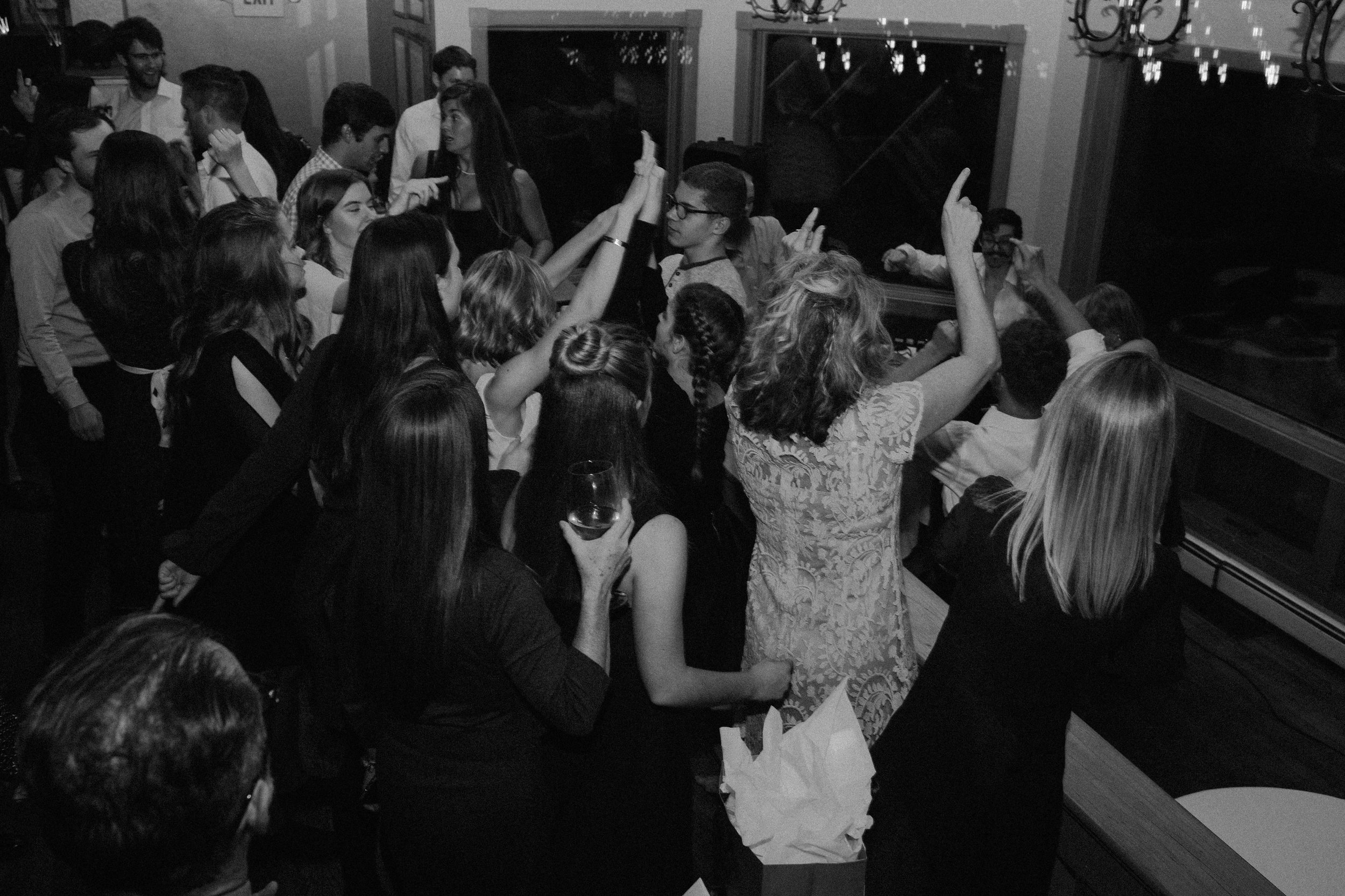 One of my favorite, most vivid memories of the reception is when Jay played  Empire State of Mind  and it seemed like everyone was groovin' and singing at the top of their lungs (or maybe that was just me...?).