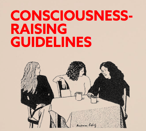 from  Trying to Make the Personal Political: Feminism and Consciousness-Raising  published by Half Letter Press. Available  here .