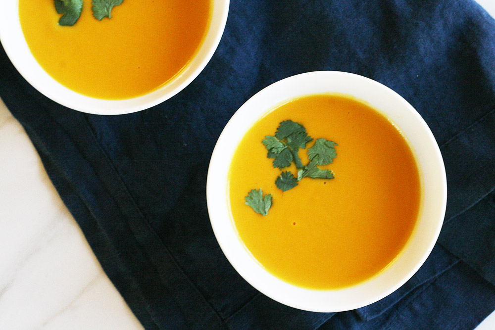 Sweet Potato and Coconut Milk Soup. Recipe  here .