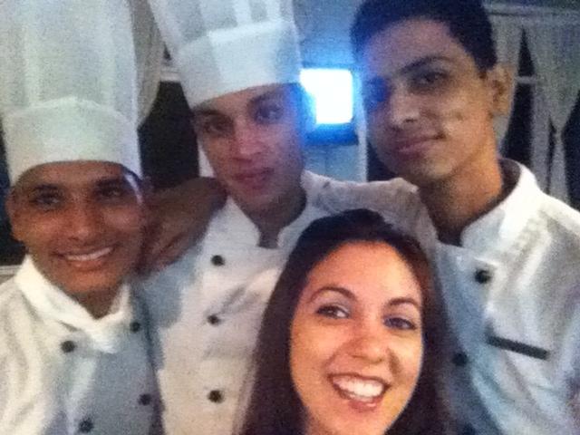 The kitchen crew at Ananda, 2011.