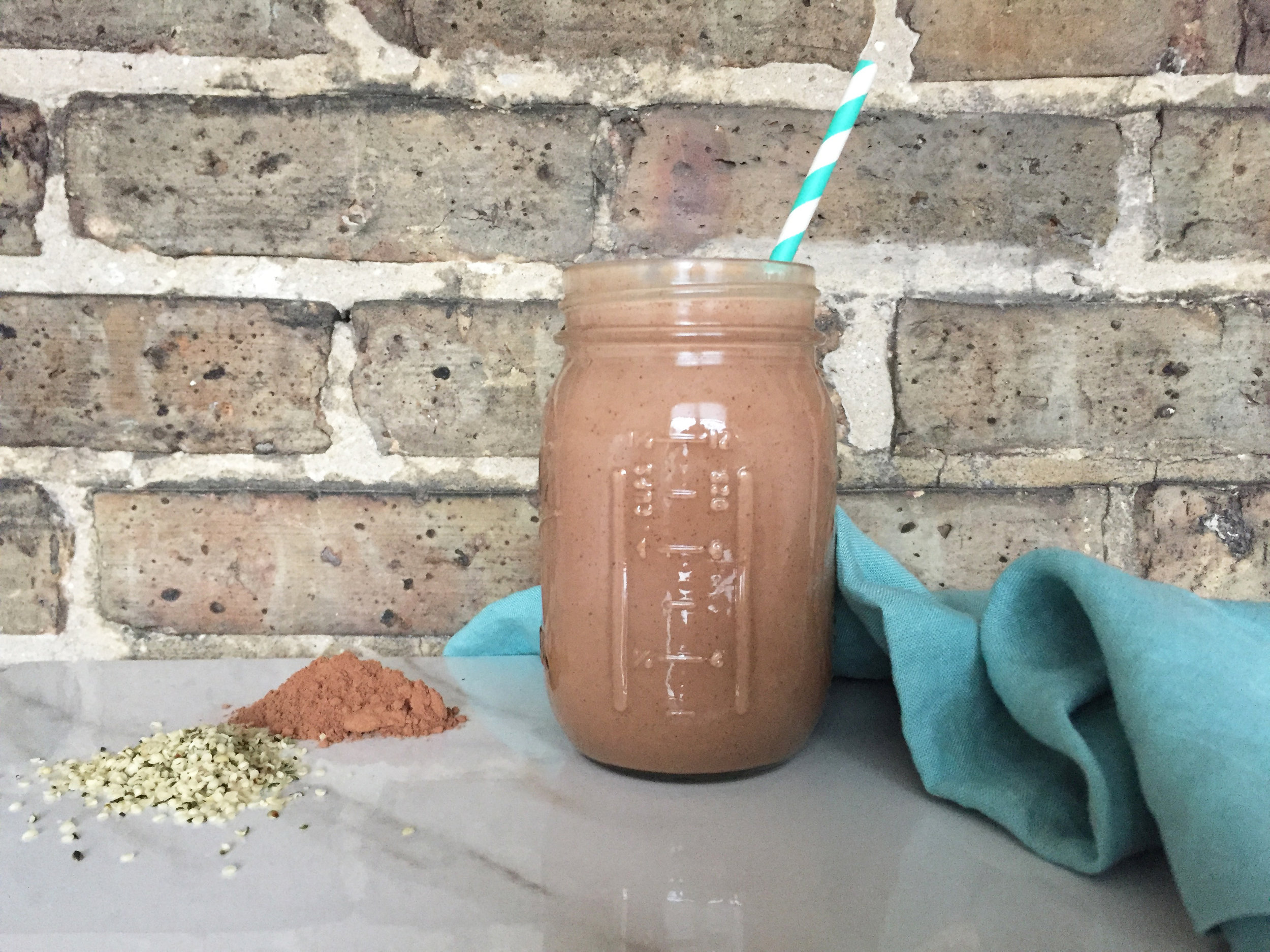 chocolate hemp protein shake