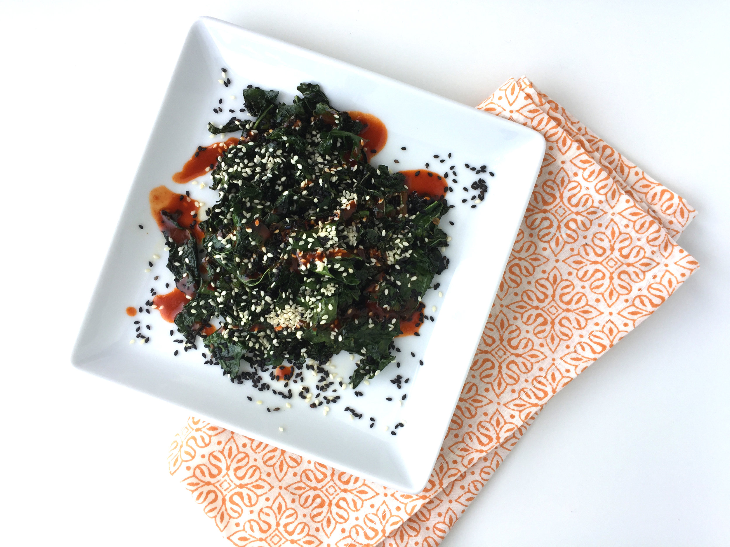 spicy sesame black kale recipe