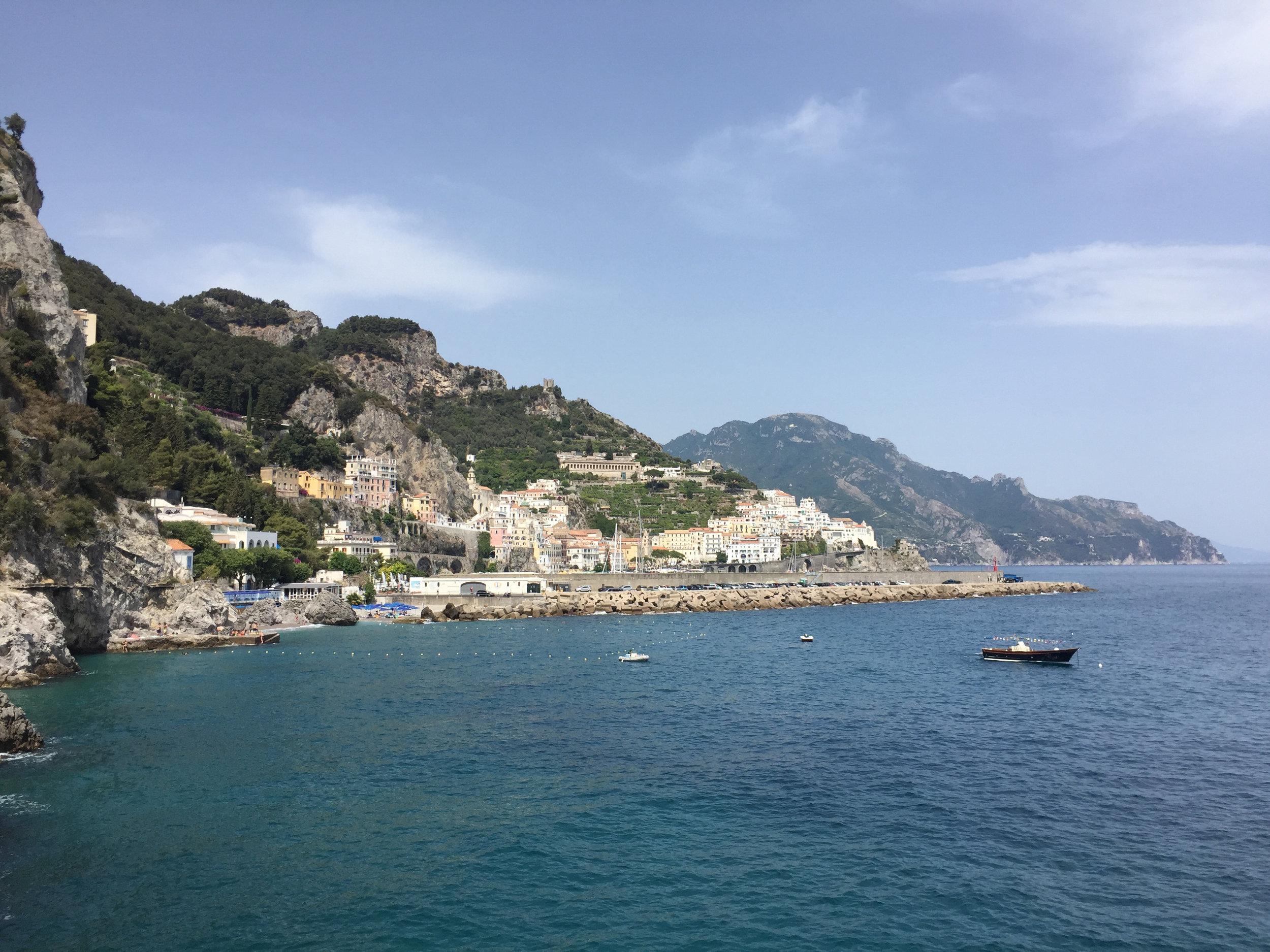 View on the amalfi coast