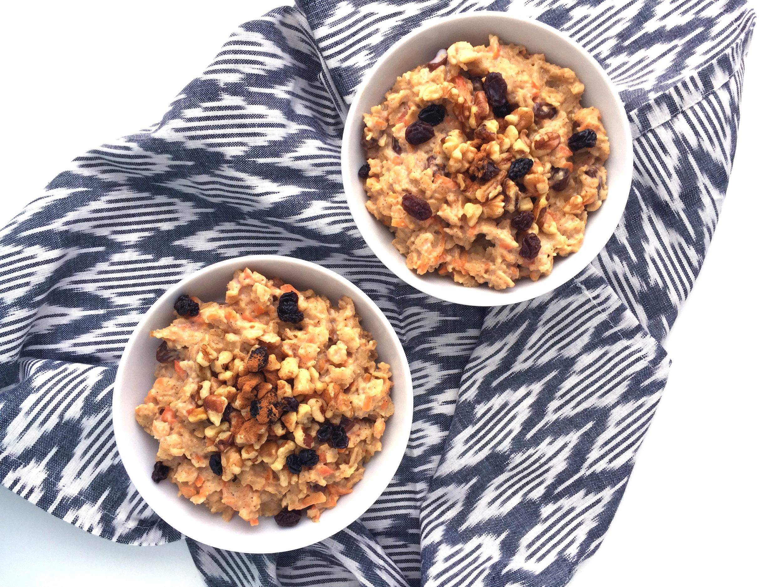 carrot cake oatmeal recipe