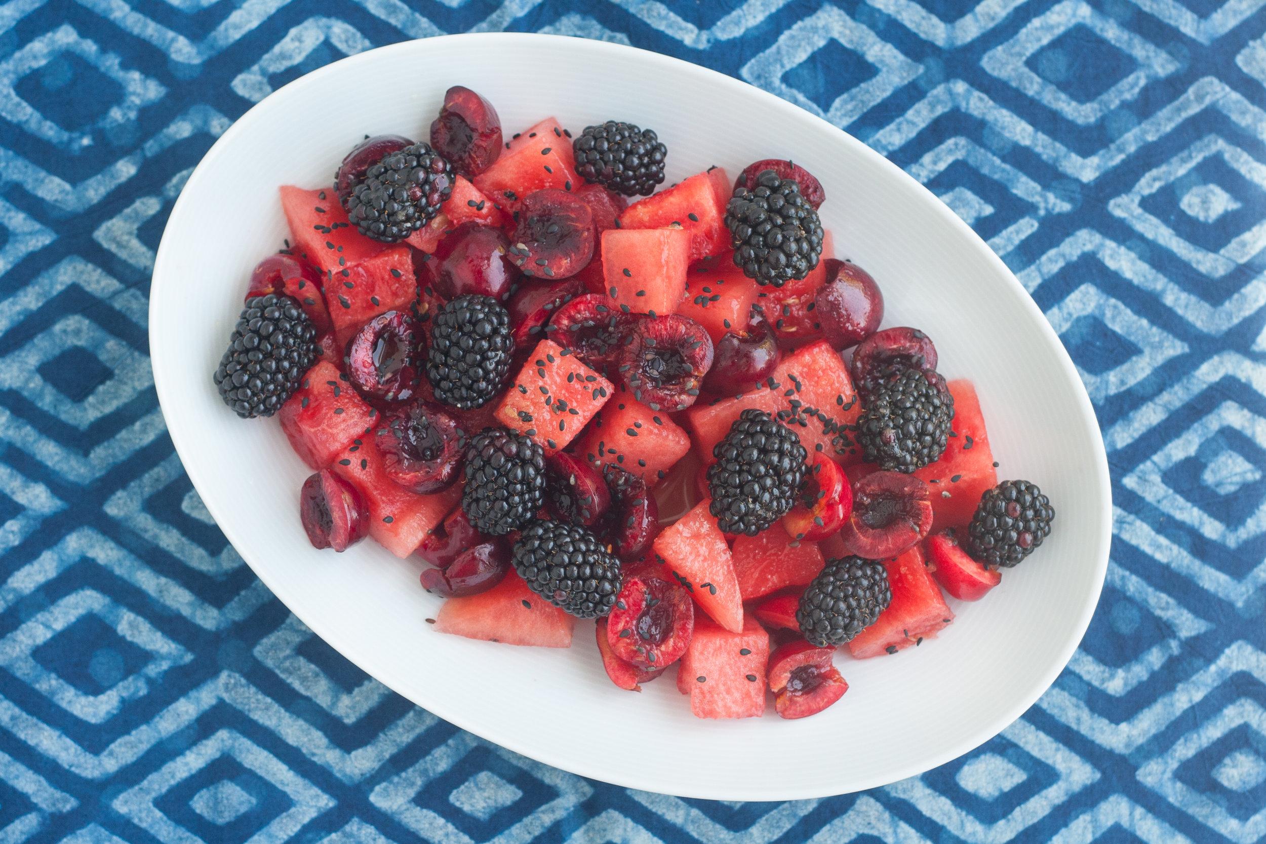 watermelon fruit chaat