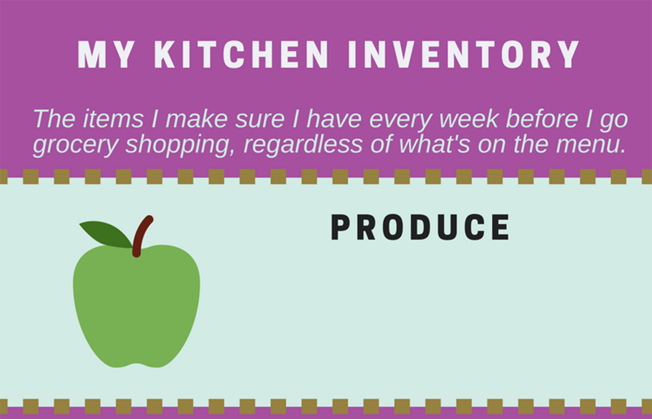 kitchen inventory list