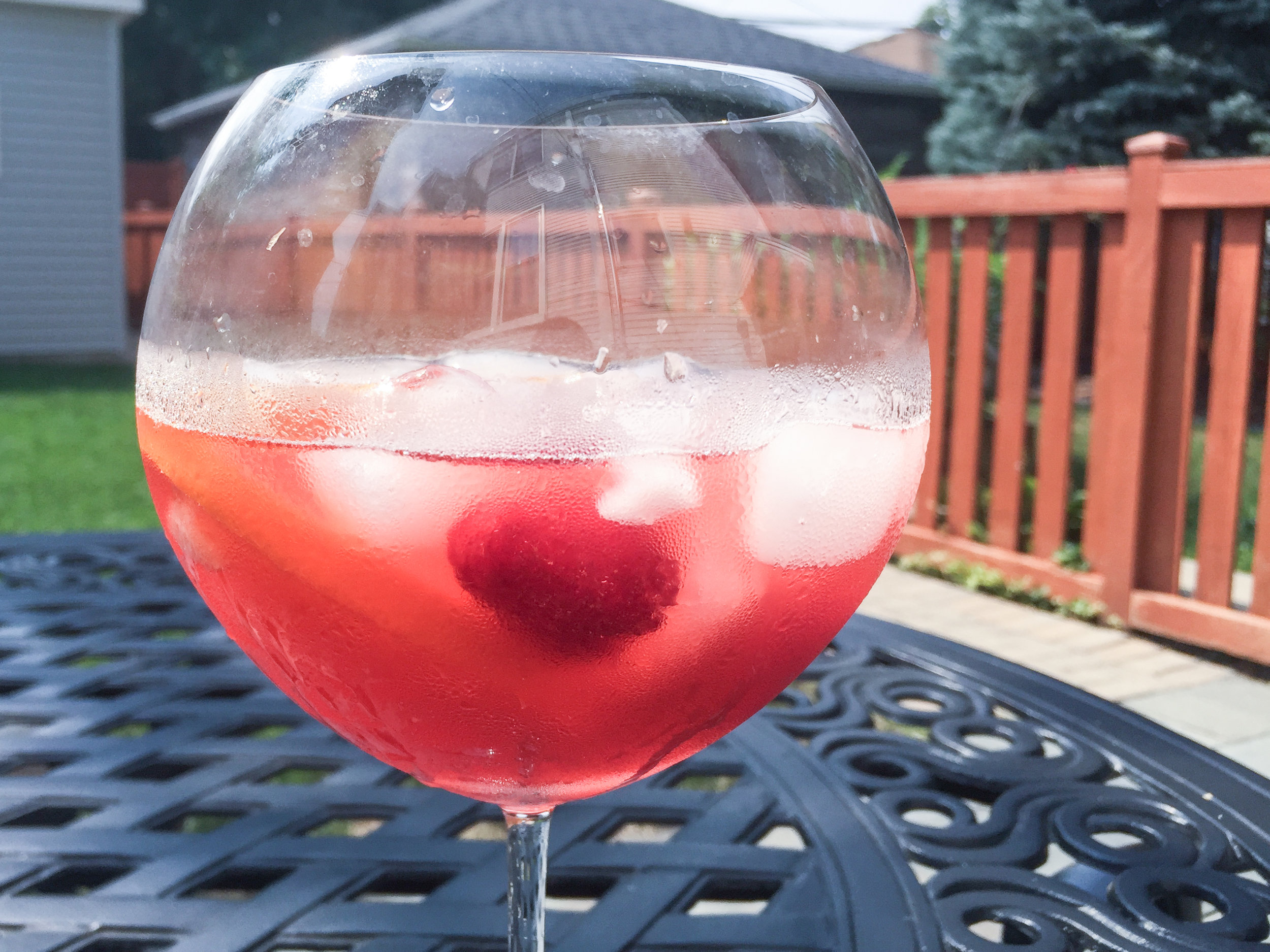 raspberry campari spritz