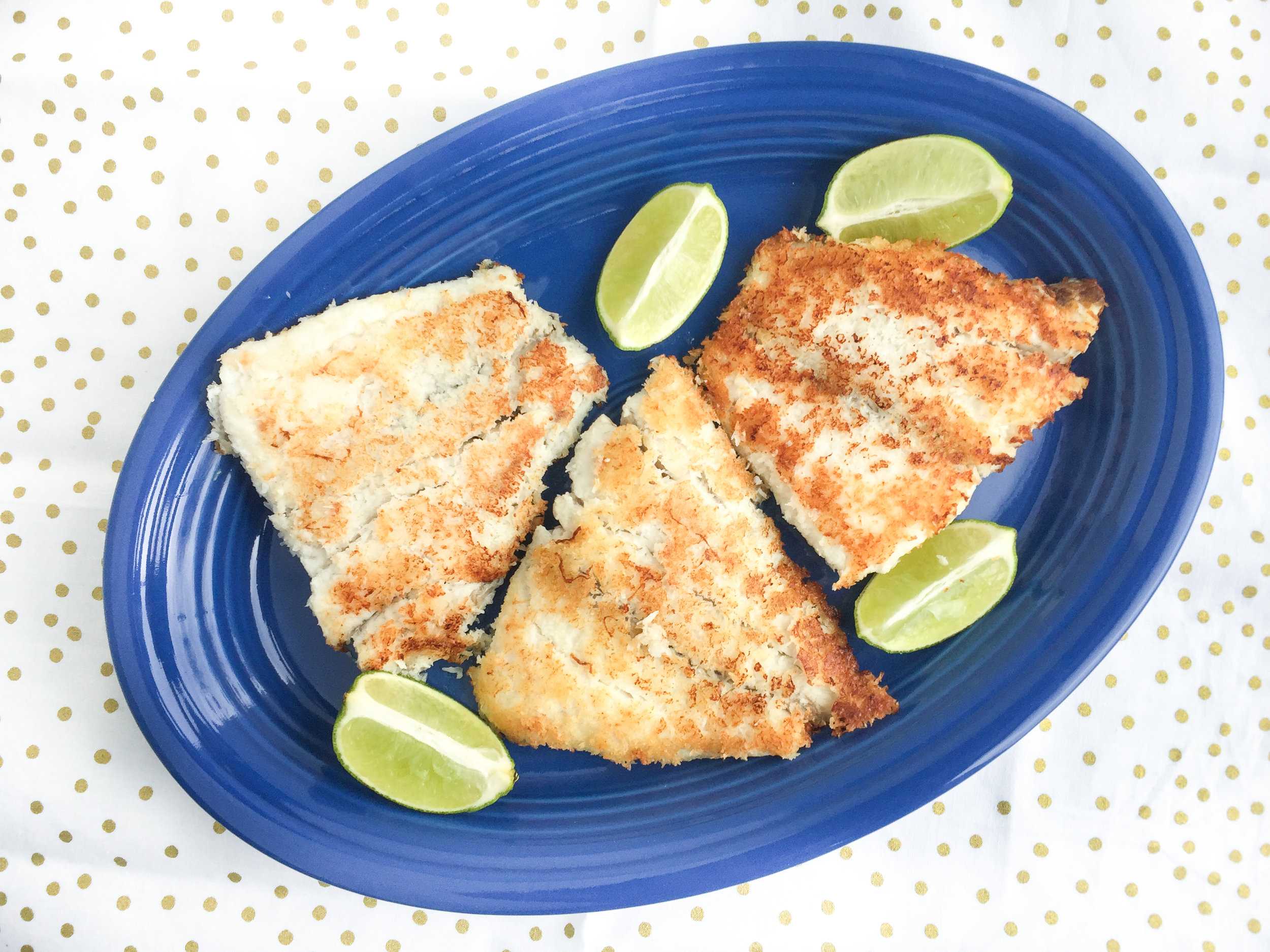 coconut crusted barramundi recipe