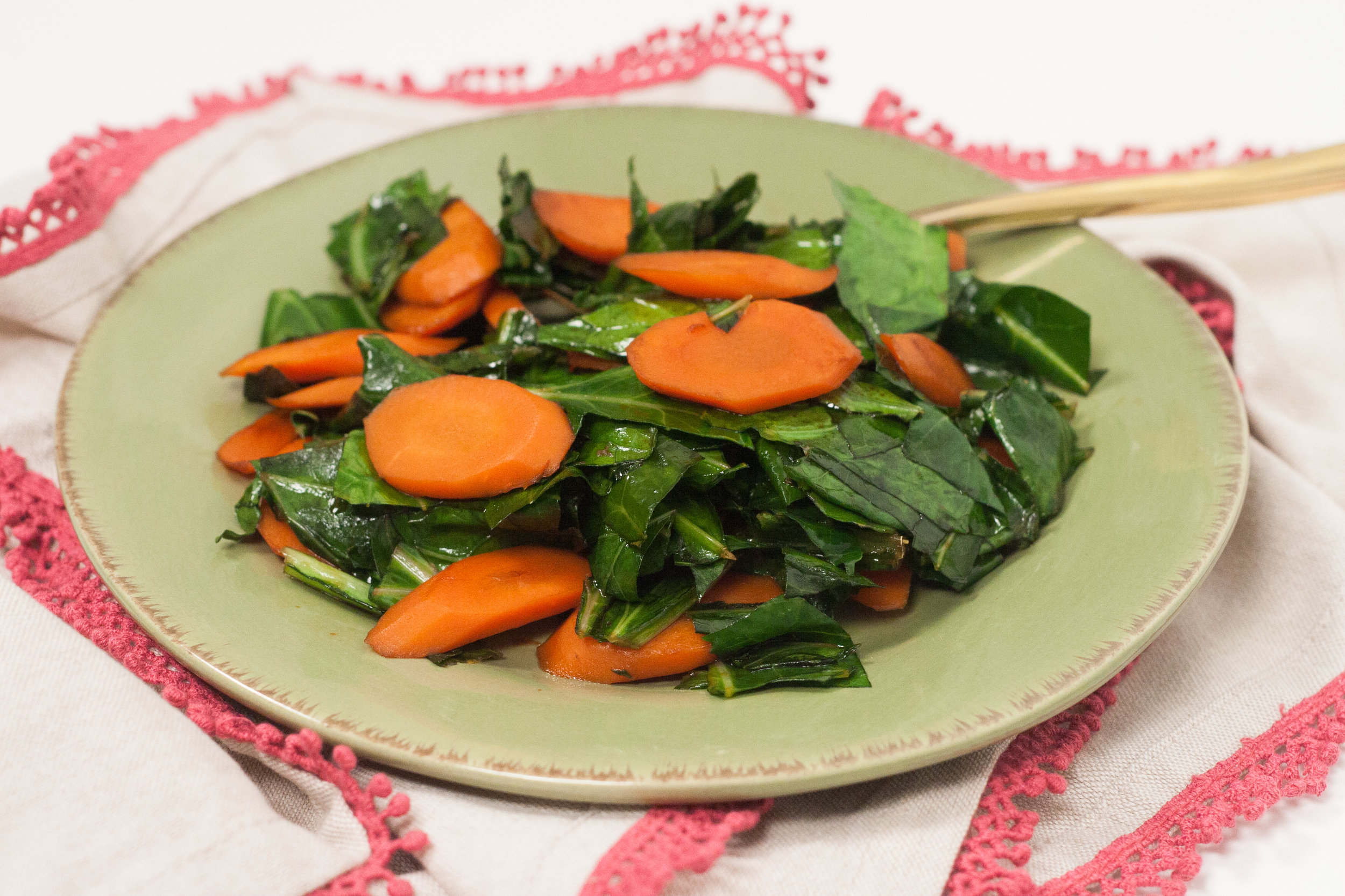 collard greens with carrots recipe