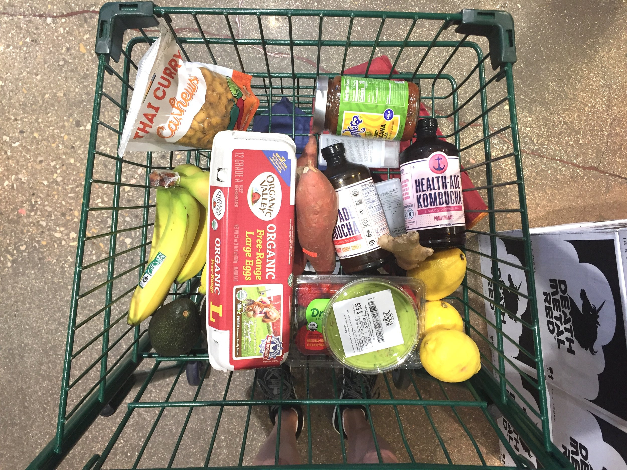 grocery shop after vacation