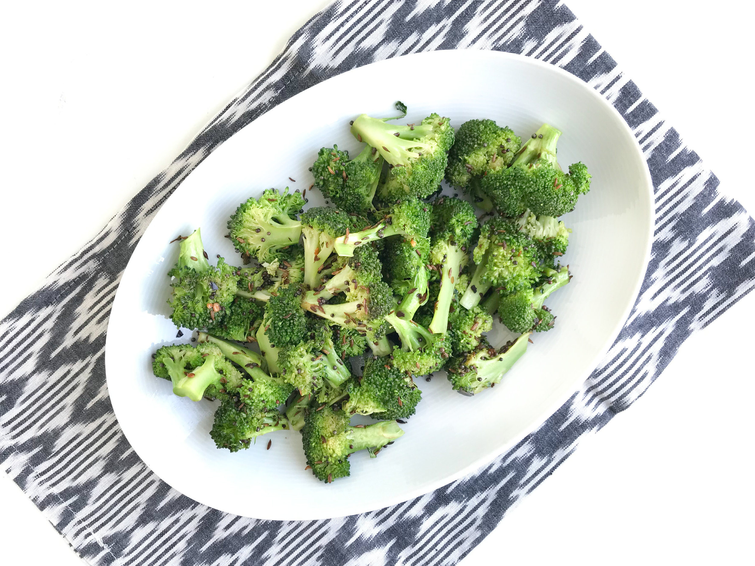 broccoli with cumin and mustard seeds