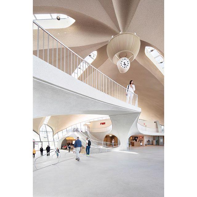 Eero Saarinen's TWA Terminal, shot for the @washingtonpost. Great article by @philip_kennicott. Link in bio. . . . . #twahotel #eerosaarinen #interiordesign #futuristic #architecture #jfk #ifyouleaveinstagram #oftheafternoon #architecturephotography #abstract #selektormagazine #justifiedmagazine #yetmagazine #archilovers #ourmag #exploration #rentalmag #paperjournalmag #subjectivelyobjective #paradisexmagazine #hurtlamb #nikon #thespacesilike #urbanscape
