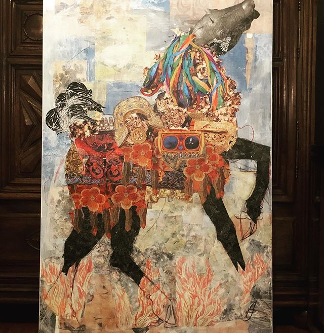 Just finished.#annconnellyfineart #mixedmedia #horseart #collageart #collage