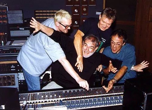 Dave Carpenter, Larry Williams, and Vinnie Colaiuta. Trying to turn up their faders!