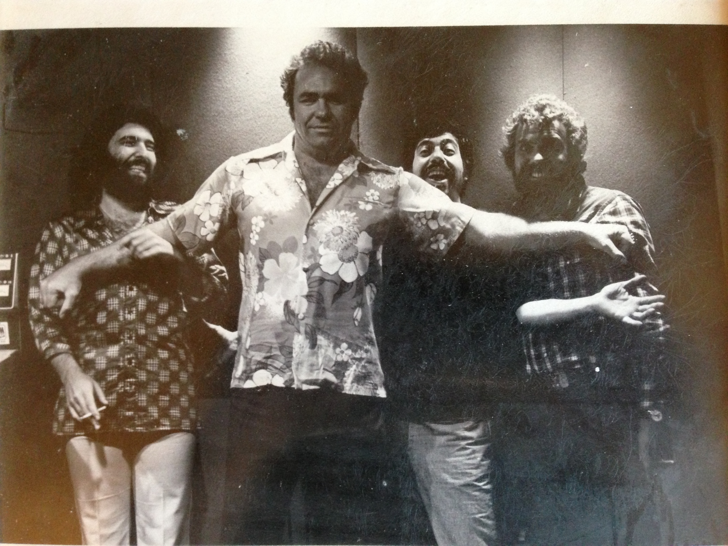 Hoyt Axton, Hank Cicalo, Allan McDougall and Some guy on the left!