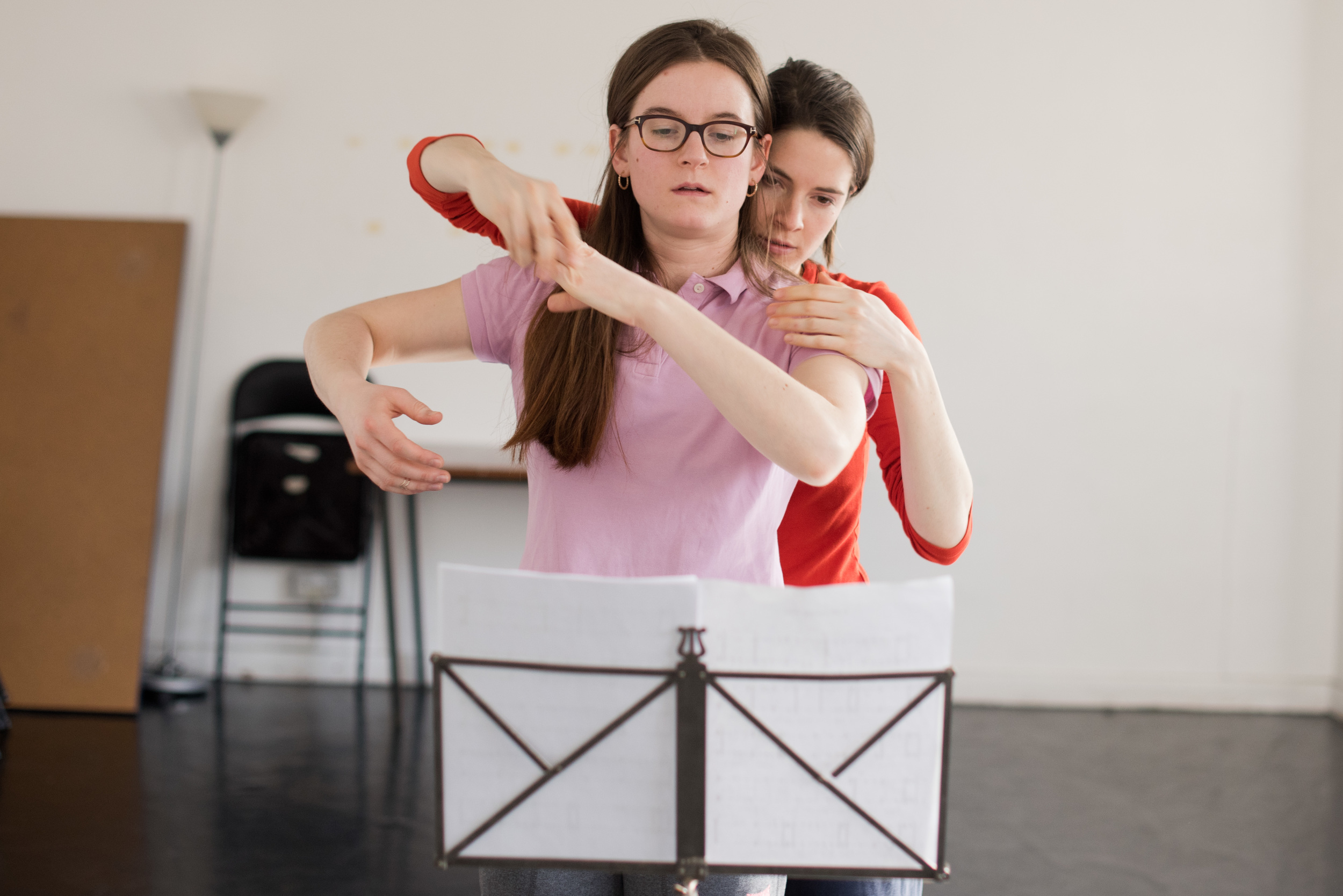 In rehearsal. Photo: Camilla Greenwell.