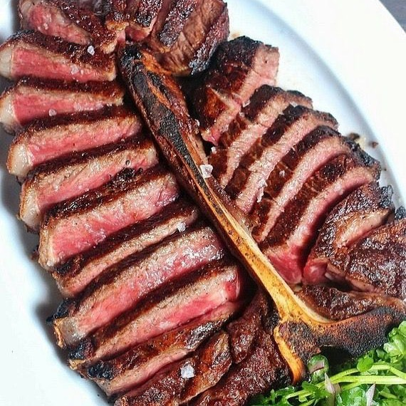 Come enjoy our Dry aged Porterhouse for two served with potato pie and vegetable of the day!!!!@embersbk #steakhouse #steak #dryaged #blackangus #beef #nycfood #nyceats #brooklyneats #brooklyn